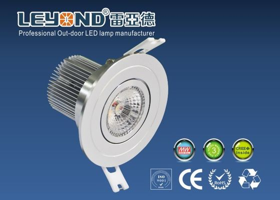 China Commercial 15W LED Down Light With Cree COB Chip Warm White 3000K 60D Round Shape supplier
