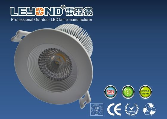 China Cree COB LED Downlight 15w With Anti Glare Lens Aluminium Alloy White Housing supplier