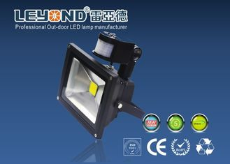China 5000k Outdoor Led PIR Floodlight With Motion Sensor , Gray & Black Housing supplier