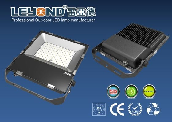 China Netural White 4000K Waterproof LED Flood Light 100W  SMD Flat Pad Flood Lighting IP65 supplier
