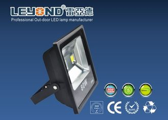 China Slimline Outdoor Waterproof LED Flood Lights 80W Netural White 4000K With Bridgelux Chip supplier