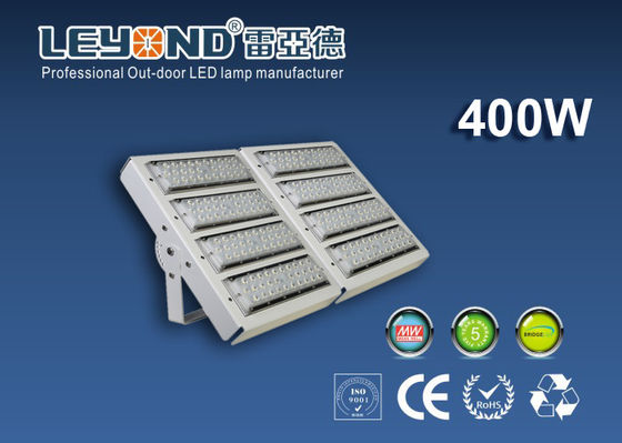China IP66 Rating 400W LED Modular Flood Light White 160lm/w Outdoor Application for Sport Ground Lighting supplier