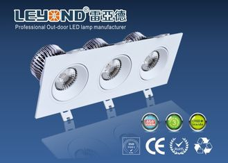 China High Power 3 Heads Square Downlight Led Dimmable Down Lighting 5000k supplier