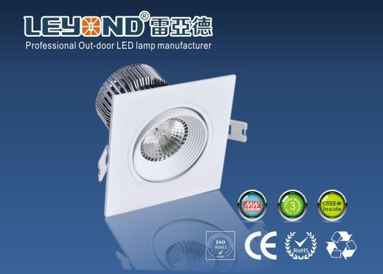 China Different power Square LED Bathroom LED DownLights 2700K - 6000K with High CRI 80 supplier