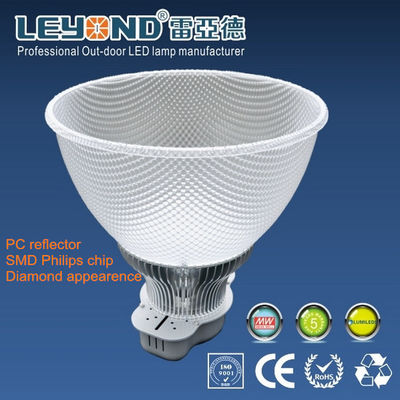 China PC Reflector 50W 100W energy saving high bay lighting With 5 Years Warranty supplier