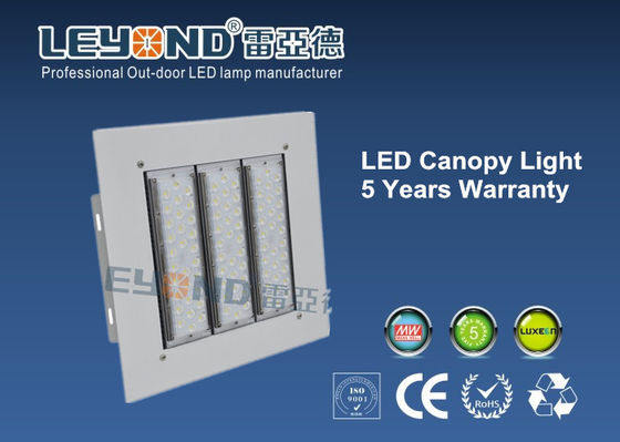 China Gas Station LED Canopy Lights 150w 2nd Generation 160lm/w PC Cover Aluminum Housing supplier