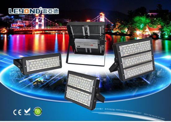 China 50W-500W LED Stadium Light IP66 Meanwell Driver Anti - Glare Lens High Efficiency supplier