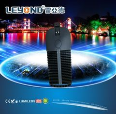 LUMILEDS 5050/3030 chip LED Street Lighting , led road lamp black / gray housing