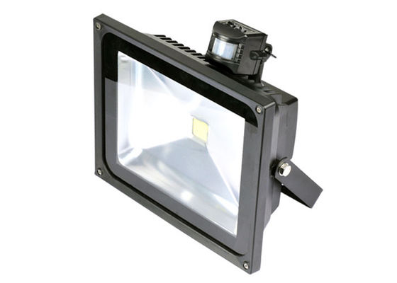 China Pure white workshop / garden 60 Hz 50Hz 50W LED floodlight with PIR sensor , detection 120 degree supplier