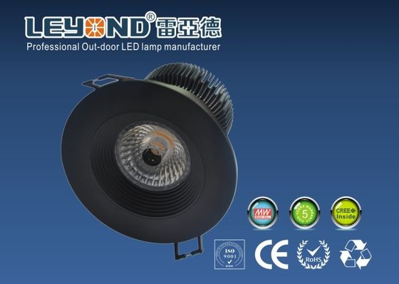 China AC100-240V Cree COB LED DownLight Round Shape White/ Black Housing Dimmable distributor