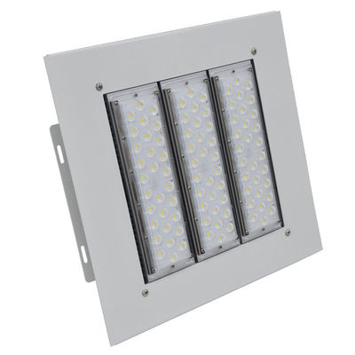 China Surface Mounted Led Gas Station Canopy Lights 100-277vac 100w 150w IP66 IK10 factory