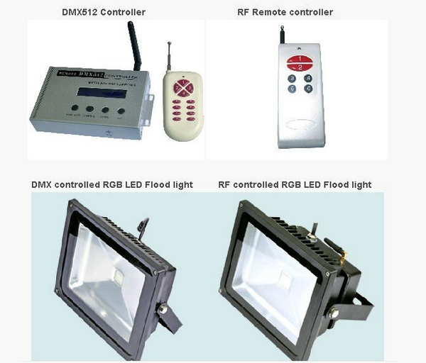 Reflector 30w Led Flood Light RGB Colorful Changing 120D Light Angle