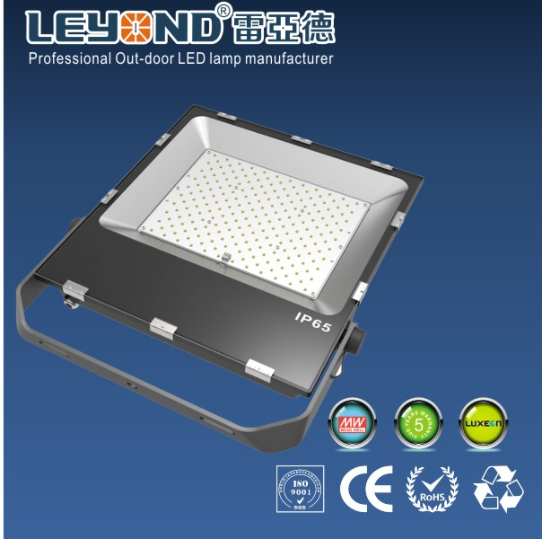 IP66 rated 3030 Lumileds Luxeon  Chips Waterproof LED Flood Lights 200W Black Housing  &PC Lens and 150-180lm/w