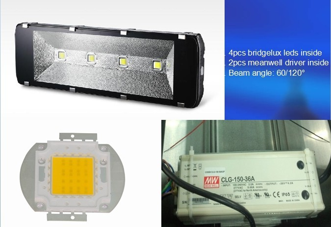 High Brightess Led Tunnel Lights Outside Led Flood Light High Power