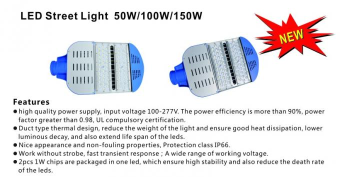 Energy Saving Street Lighting 50W With Bridgelux Chip Sosen Driver 3 Years Warranty