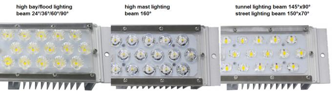 Energy Saving 150lm / W LED Street light module 30w 50w led module light With Aluminum / PC Body , 5 Years Warranty