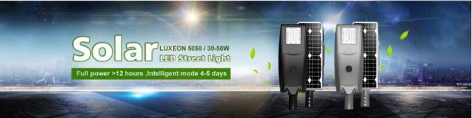 Lithium Battery Solar LED Street Lamp Alloy Material For Roadway Lighting Fixture