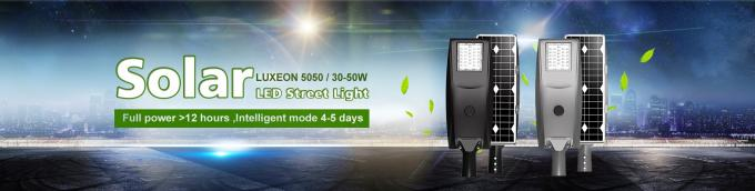 Intellegence Solar Energy LED Street Light 10w 20w 30w 40w 50w For Rural Road