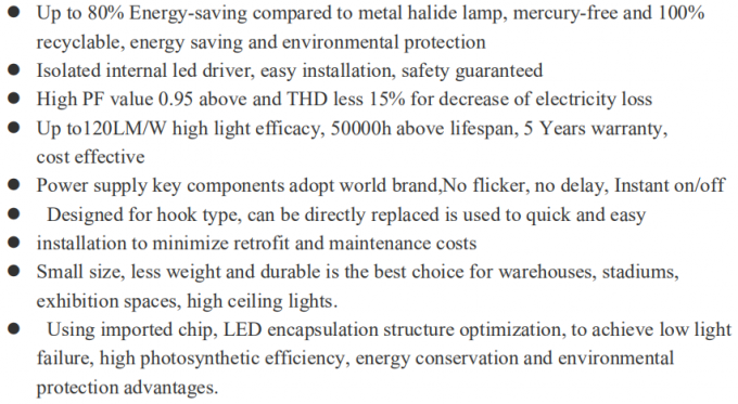 Outdoor IP65 150w UFO LED High Bay Light Aluminum Lamp Body 50000hrs Lifespan