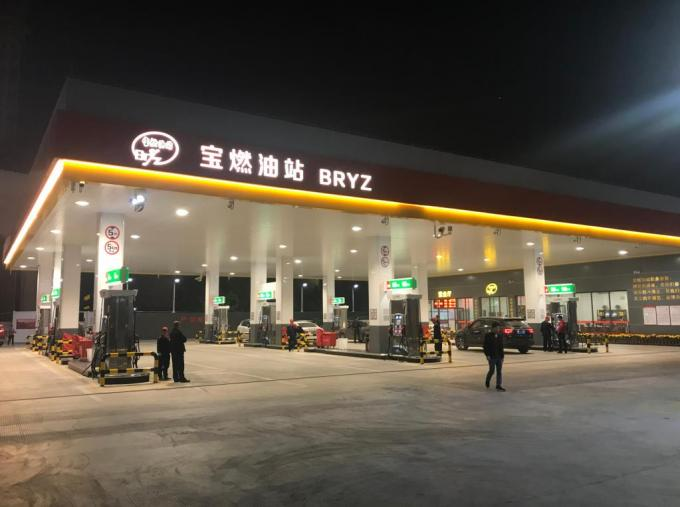 Filling Station LED Canopy Lights 165lm/w 50w 100w 150w IP66 IK10 Recessed Installation