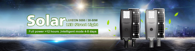 50 Watt LED Street Lighting All In One Luxeon 5050 Aluminum Lamp Body Material