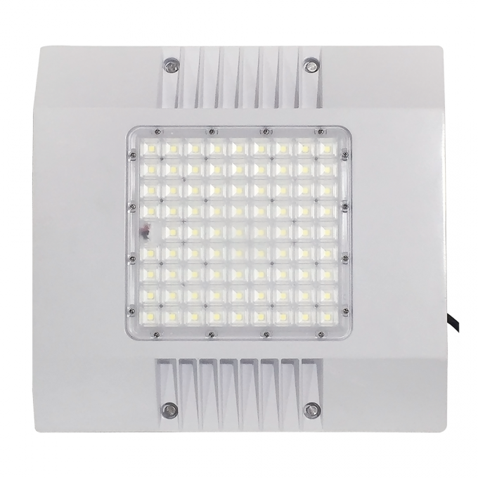 White Colour Led Gas Station Canopy Lights 165lm/w 100w 150w IP66 IK10 85 Degree