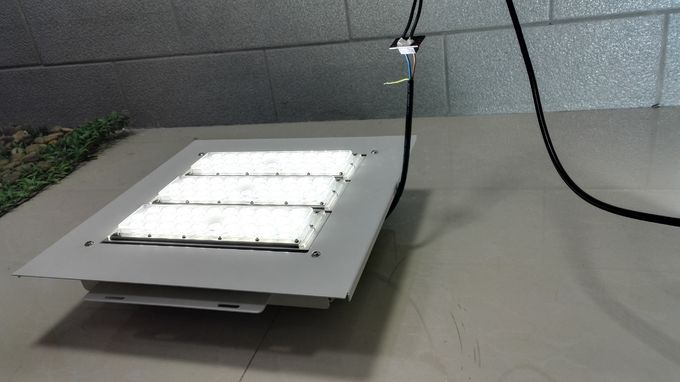 Gas Station LED Canopy Lights 150w 2nd Generation 160lm/w PC Cover Aluminum Housing