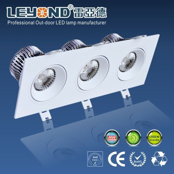 Warm Cool White 3000K Cree COB dimmable Led Downlight Ceiling 3 Years Warranty