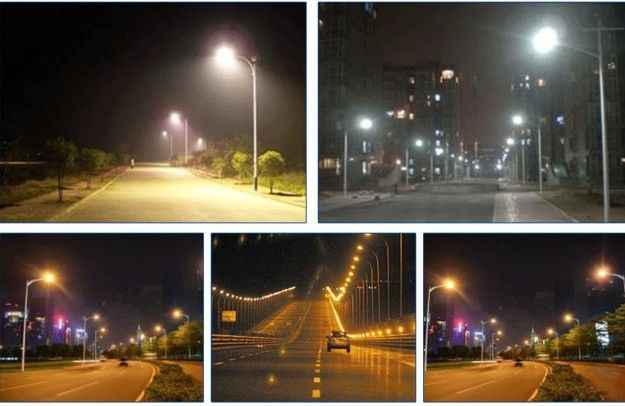Outside Energy Saving Solar LED Street Lighting With 5050 LED Chip , AC100-240V