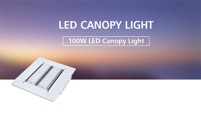 2019 Hot Item LED Canopy Light 100 Watt For Gas Station Petrol Station Meanwell Driver